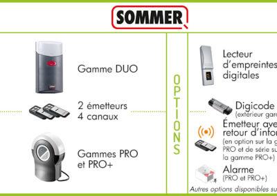 Motorisation et accessoires Sommer