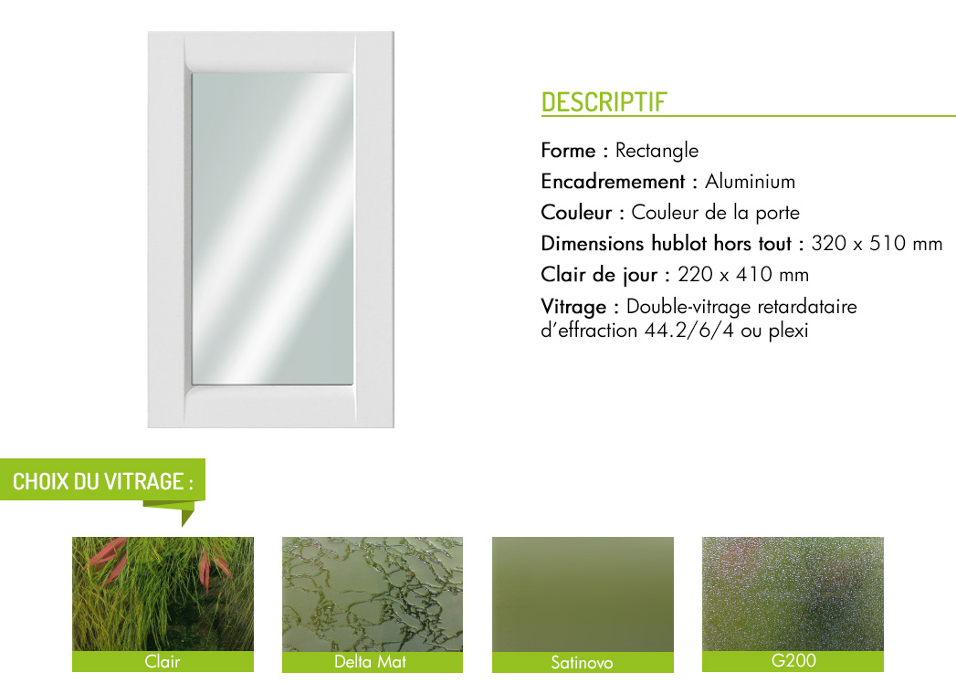 Encadrement aluminium rectangle