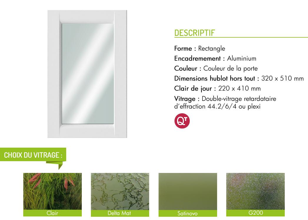 Encadrement aluminium rectangle