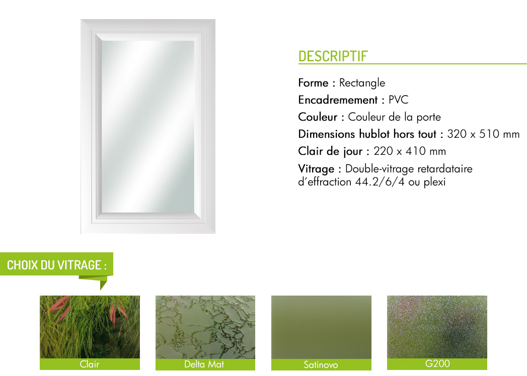 Encadrement PVC rectangle