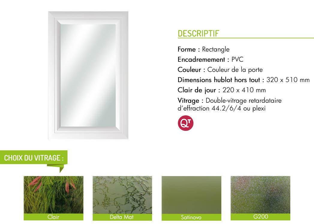 Encadrement PVC rectangle